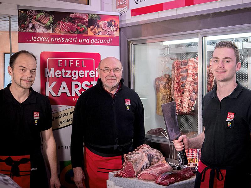 Zusammen mit Seniorchef Willi Karst